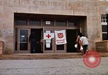 Image of Salvation Army shelter at Rapid City High School following flood Rapid City South Dakota USA, 1972, second 12 stock footage video 65675052512