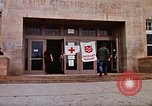 Image of Salvation Army shelter at Rapid City High School following flood Rapid City South Dakota USA, 1972, second 16 stock footage video 65675052512