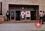 Image of Salvation Army shelter at Rapid City High School following flood Rapid City South Dakota USA, 1972, second 25 stock footage video 65675052512