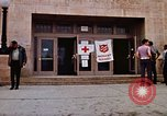 Image of Salvation Army shelter at Rapid City High School following flood Rapid City South Dakota USA, 1972, second 27 stock footage video 65675052512