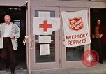 Image of Salvation Army shelter at Rapid City High School following flood Rapid City South Dakota USA, 1972, second 30 stock footage video 65675052512