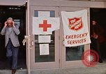Image of Salvation Army shelter at Rapid City High School following flood Rapid City South Dakota USA, 1972, second 31 stock footage video 65675052512