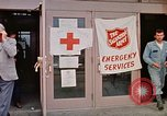 Image of Salvation Army shelter at Rapid City High School following flood Rapid City South Dakota USA, 1972, second 32 stock footage video 65675052512