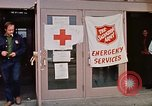 Image of Salvation Army shelter at Rapid City High School following flood Rapid City South Dakota USA, 1972, second 33 stock footage video 65675052512