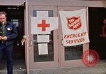 Image of Salvation Army shelter at Rapid City High School following flood Rapid City South Dakota USA, 1972, second 34 stock footage video 65675052512