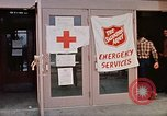 Image of Salvation Army shelter at Rapid City High School following flood Rapid City South Dakota USA, 1972, second 35 stock footage video 65675052512