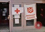 Image of Salvation Army shelter at Rapid City High School following flood Rapid City South Dakota USA, 1972, second 37 stock footage video 65675052512