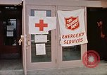 Image of Salvation Army shelter at Rapid City High School following flood Rapid City South Dakota USA, 1972, second 38 stock footage video 65675052512