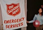 Image of Salvation Army shelter at Rapid City High School following flood Rapid City South Dakota USA, 1972, second 39 stock footage video 65675052512