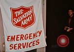 Image of Salvation Army shelter at Rapid City High School following flood Rapid City South Dakota USA, 1972, second 40 stock footage video 65675052512