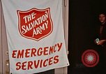 Image of Salvation Army shelter at Rapid City High School following flood Rapid City South Dakota USA, 1972, second 41 stock footage video 65675052512