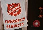 Image of Salvation Army shelter at Rapid City High School following flood Rapid City South Dakota USA, 1972, second 42 stock footage video 65675052512