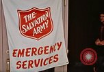 Image of Salvation Army shelter at Rapid City High School following flood Rapid City South Dakota USA, 1972, second 44 stock footage video 65675052512