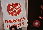 Image of Salvation Army shelter at Rapid City High School following flood Rapid City South Dakota USA, 1972, second 45 stock footage video 65675052512