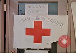 Image of Salvation Army shelter at Rapid City High School following flood Rapid City South Dakota USA, 1972, second 51 stock footage video 65675052512