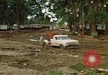 Image of wrecked trailer homes Rapid City South Dakota USA, 1972, second 10 stock footage video 65675052518