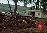 Image of wrecked trailer homes Rapid City South Dakota USA, 1972, second 15 stock footage video 65675052518