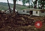 Image of wrecked trailer homes Rapid City South Dakota USA, 1972, second 18 stock footage video 65675052518