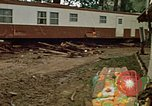 Image of wrecked trailer homes Rapid City South Dakota USA, 1972, second 20 stock footage video 65675052518