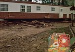 Image of wrecked trailer homes Rapid City South Dakota USA, 1972, second 21 stock footage video 65675052518
