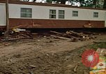 Image of wrecked trailer homes Rapid City South Dakota USA, 1972, second 22 stock footage video 65675052518