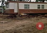 Image of wrecked trailer homes Rapid City South Dakota USA, 1972, second 23 stock footage video 65675052518