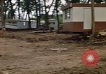 Image of wrecked trailer homes Rapid City South Dakota USA, 1972, second 24 stock footage video 65675052518