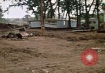 Image of wrecked trailer homes Rapid City South Dakota USA, 1972, second 25 stock footage video 65675052518