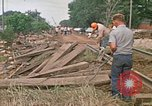 Image of wrecked trailer homes Rapid City South Dakota USA, 1972, second 44 stock footage video 65675052518