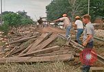 Image of wrecked trailer homes Rapid City South Dakota USA, 1972, second 46 stock footage video 65675052518