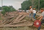 Image of wrecked trailer homes Rapid City South Dakota USA, 1972, second 48 stock footage video 65675052518