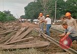 Image of wrecked trailer homes Rapid City South Dakota USA, 1972, second 53 stock footage video 65675052518
