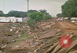 Image of wrecked trailer homes Rapid City South Dakota USA, 1972, second 57 stock footage video 65675052518