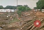 Image of wrecked trailer homes Rapid City South Dakota USA, 1972, second 58 stock footage video 65675052518