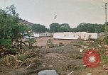 Image of wrecked trailer homes Rapid City South Dakota USA, 1972, second 62 stock footage video 65675052518