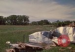 Image of wrecked trailer home Rapid City South Dakota USA, 1972, second 18 stock footage video 65675052543