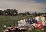 Image of wrecked trailer home Rapid City South Dakota USA, 1972, second 20 stock footage video 65675052543