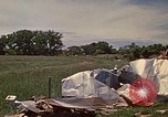 Image of wrecked trailer home Rapid City South Dakota USA, 1972, second 34 stock footage video 65675052543