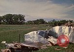 Image of wrecked trailer home Rapid City South Dakota USA, 1972, second 35 stock footage video 65675052543