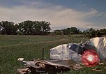 Image of wrecked trailer home Rapid City South Dakota USA, 1972, second 37 stock footage video 65675052543
