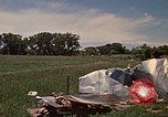 Image of wrecked trailer home Rapid City South Dakota USA, 1972, second 38 stock footage video 65675052543