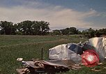 Image of wrecked trailer home Rapid City South Dakota USA, 1972, second 39 stock footage video 65675052543