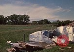 Image of wrecked trailer home Rapid City South Dakota USA, 1972, second 41 stock footage video 65675052543