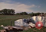 Image of wrecked trailer home Rapid City South Dakota USA, 1972, second 42 stock footage video 65675052543