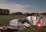 Image of wrecked trailer home Rapid City South Dakota USA, 1972, second 43 stock footage video 65675052543
