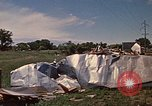 Image of wrecked trailer home Rapid City South Dakota USA, 1972, second 44 stock footage video 65675052543