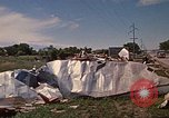 Image of wrecked trailer home Rapid City South Dakota USA, 1972, second 45 stock footage video 65675052543