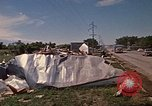 Image of wrecked trailer home Rapid City South Dakota USA, 1972, second 46 stock footage video 65675052543