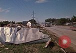 Image of wrecked trailer home Rapid City South Dakota USA, 1972, second 47 stock footage video 65675052543