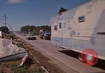 Image of wrecked trailer home Rapid City South Dakota USA, 1972, second 53 stock footage video 65675052543